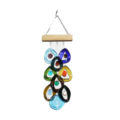 Bottle Benders Recycled Glass Chime - Southern Lights