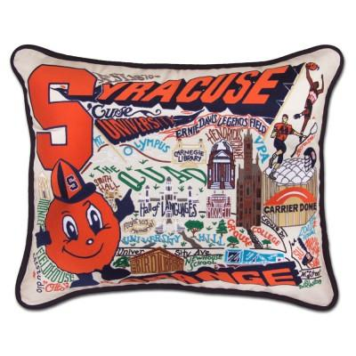 Syracuse Hand Embroidered CatStudio Pillow