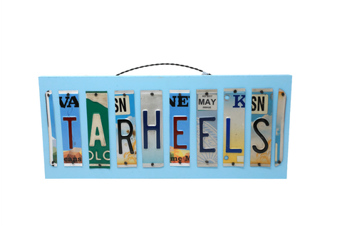 License Plate Sign - Tarheels