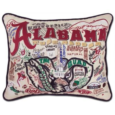 Alabama University Hand Embroidered CatStudio Pillow