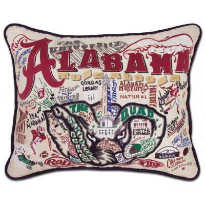 Hand Embroidered Catstudio Pillows (Collegiate)