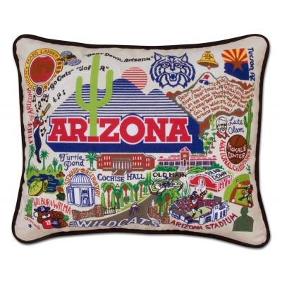 Arizona University Hand Embroidered CatStudio Pillow