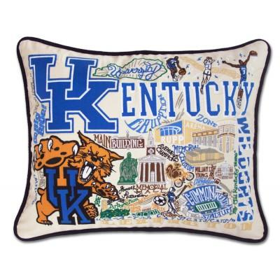 Kentucky University Hand Embroidered CatStudio Pillow