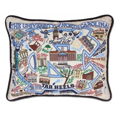University of North Carolina Hand Embroidered CatStudio Pillow