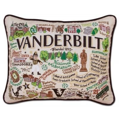 Vanderbilt Hand Embroidered CatStudio Pillow
