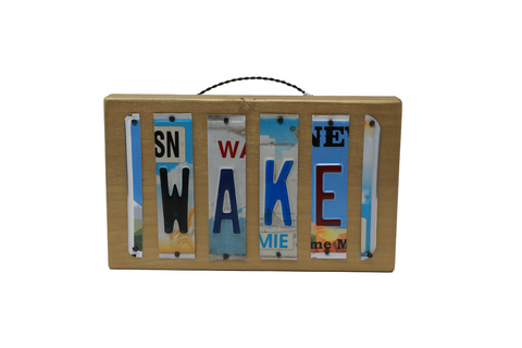 License Plate Sign - Wake