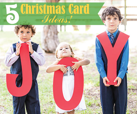 5 christmas card ideas with our great photo props