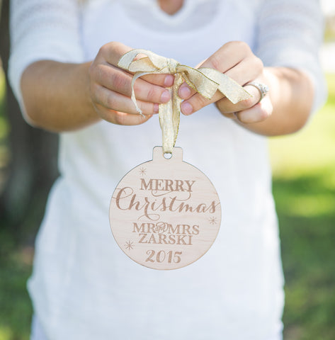 first christmas ornament personalized wood