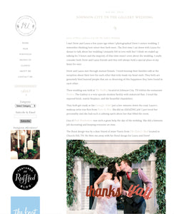 wedding blog features thanks y'all props