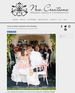 wedding blog features mr and mrs chair signs