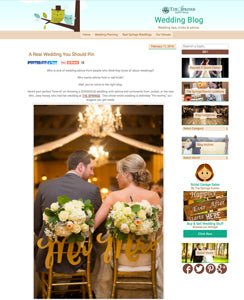 blog feature of mr and mrs chair signs in gold