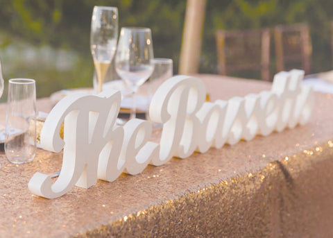 custom wedding name sign service