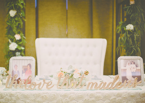 custom wedding signs table decor