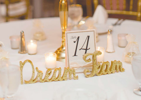 custom wedding table signs service