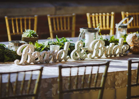 wedding signs table decorations