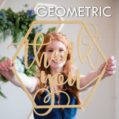 geometric themed wedding and party decor