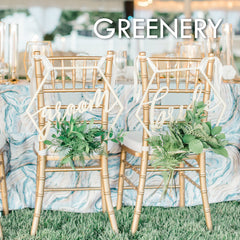 greenery style wedding decor