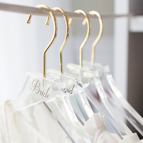 Simple Acrylic Personalized Hangers - Wedding Decor Gifts