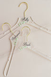 Floral Acrylic Personalized Hangers - Wedding Decor Gifts