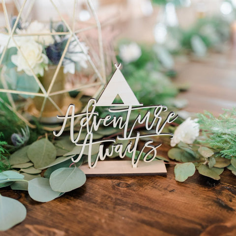 Adventure Awaits Sign - Wedding Decor Gifts