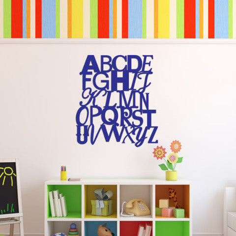 ABCs Wall Sign Artwork Decor for Kids Play Room