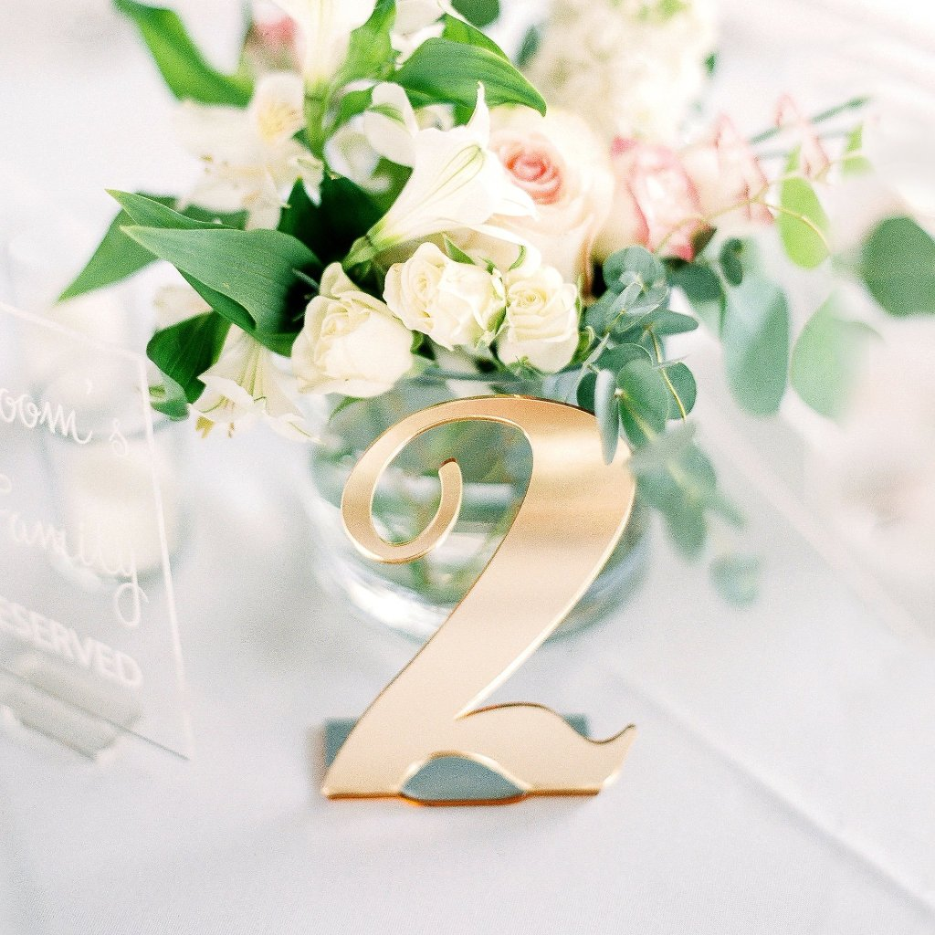 Acrylic Bent Table Numbers - Wedding Decor Gifts