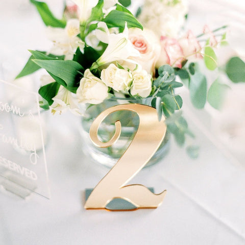 Reception decor mr mrs signs wedding table numbers for Table design numbers