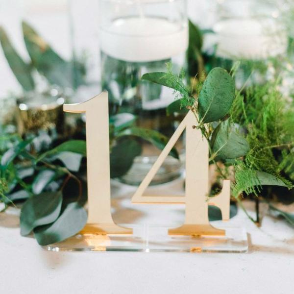 Acrylic Numbers on Clear Bases - Wedding Decor Gifts
