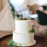 Adventure Begins Cake Topper - Wedding Decor Gifts