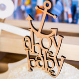 Ahoy Nautical Baby Shower Cake Topper - Wedding Decor Gifts