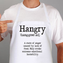 "Funny Grilling Apron ""Hangry"" - Wedding Decor Gifts"