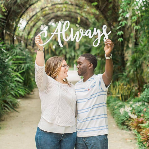 "Wedding Sign ""Always"" Photo Prop"