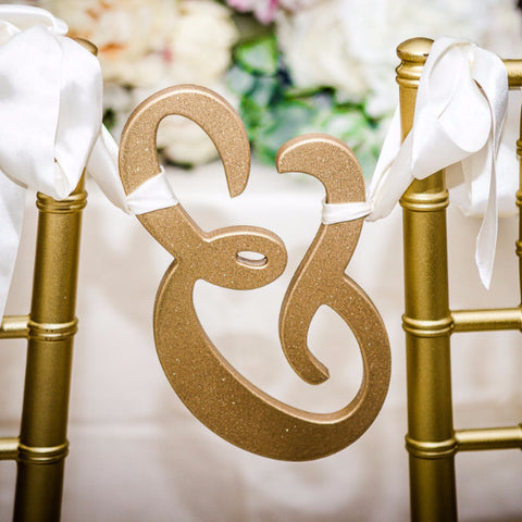 Wooden Ampersand Chair Sign for Sweetheart Table - Wedding Decor Gifts