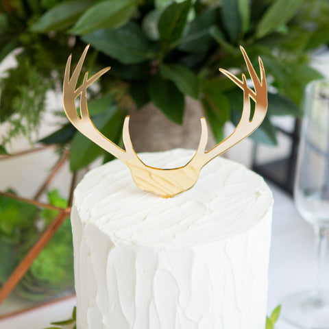 Boho Antler Wedding Cake Topper - Wedding Decor Gifts