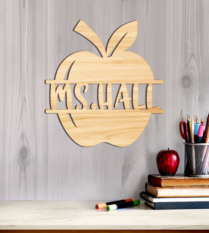 Teacher School Wall Decor Personalized Name, Gift For Teacher