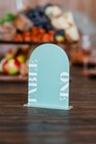 Arch Table Numbers for Wedding or Shower Party Event, Decor, Custom Acrylic Table Number, Modern Arch Shape Wedding Table Sign