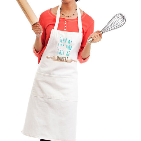 "Funny Kitchen Apron ""Call Me Martha"" - Wedding Decor Gifts"