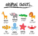 Safari Animals or Sea Creatures, Colorful Birthday or Occasion Yard Signs