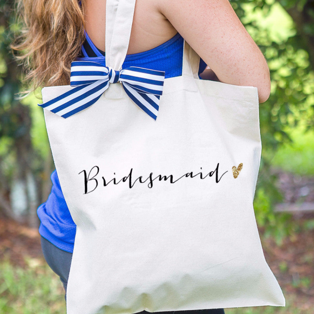 Glam Bridesmaid Wedding Tote Bag - Wedding Decor Gifts