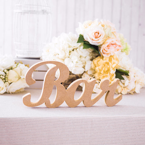 Freestanding Bar Sign - Wedding and Gifts