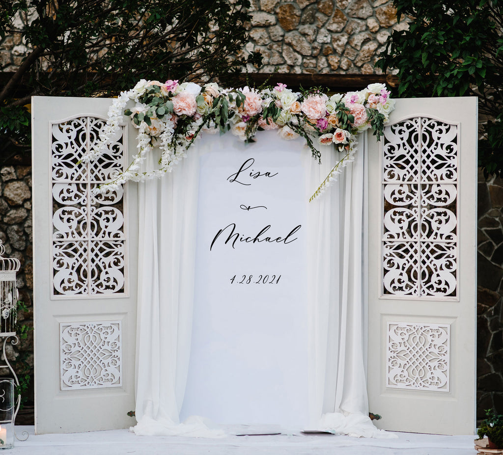 Hanging Script Wedding Back Drop - Wedding Decor Gifts