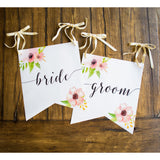 Wedding Banner Chair Signs for Bride and Groom - Wedding Decor Gifts