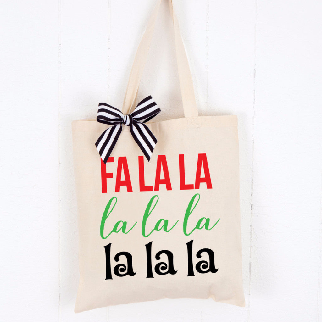 Holiday Tote Bag - Fa La La - Wedding and Gifts