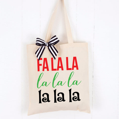 Holiday Tote Bag - Fa La La - Wedding Decor Gifts