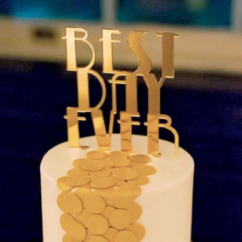 Cake Topper Gatsby Style Best Day Ever - Wedding Decor Gifts