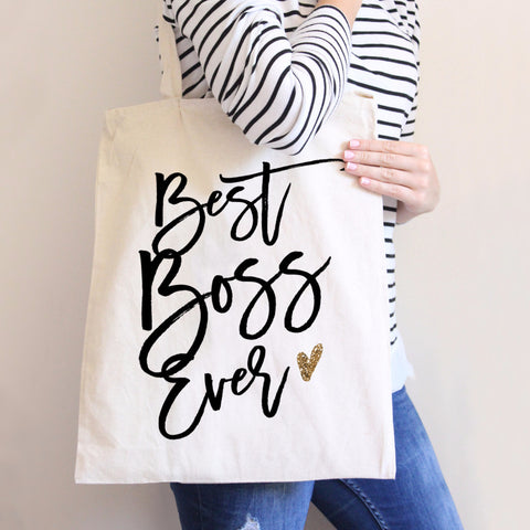 Best Boss Ever Tote Bag - Wedding Decor Gifts