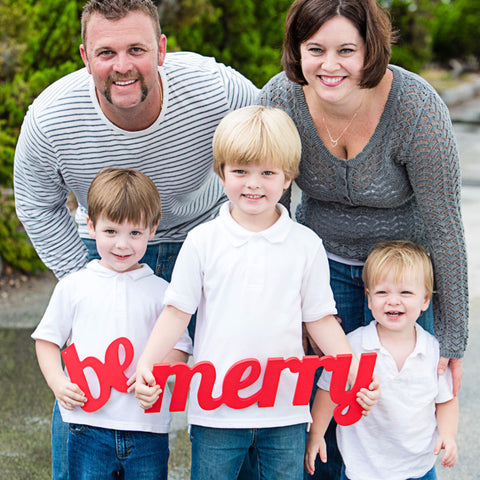 Be Merry Holiday Card Photo Prop Signs - Wedding Decor Gifts