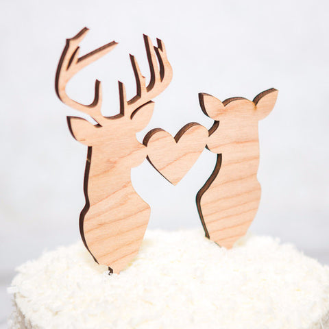 Deer and Buckhead Wedding Cake Topper - Wedding Decor Gifts