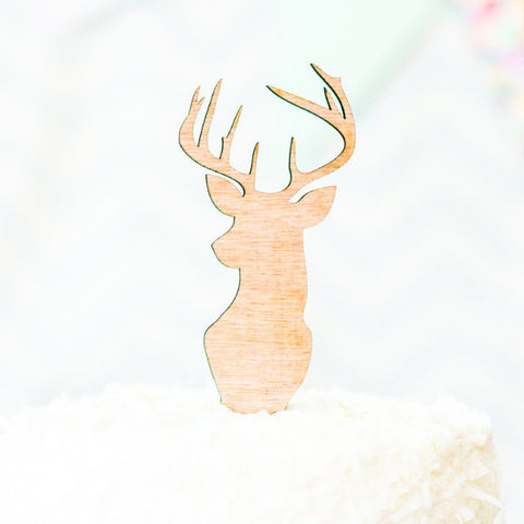 Buck Head Antler Cake Topper - Wedding Decor Gifts