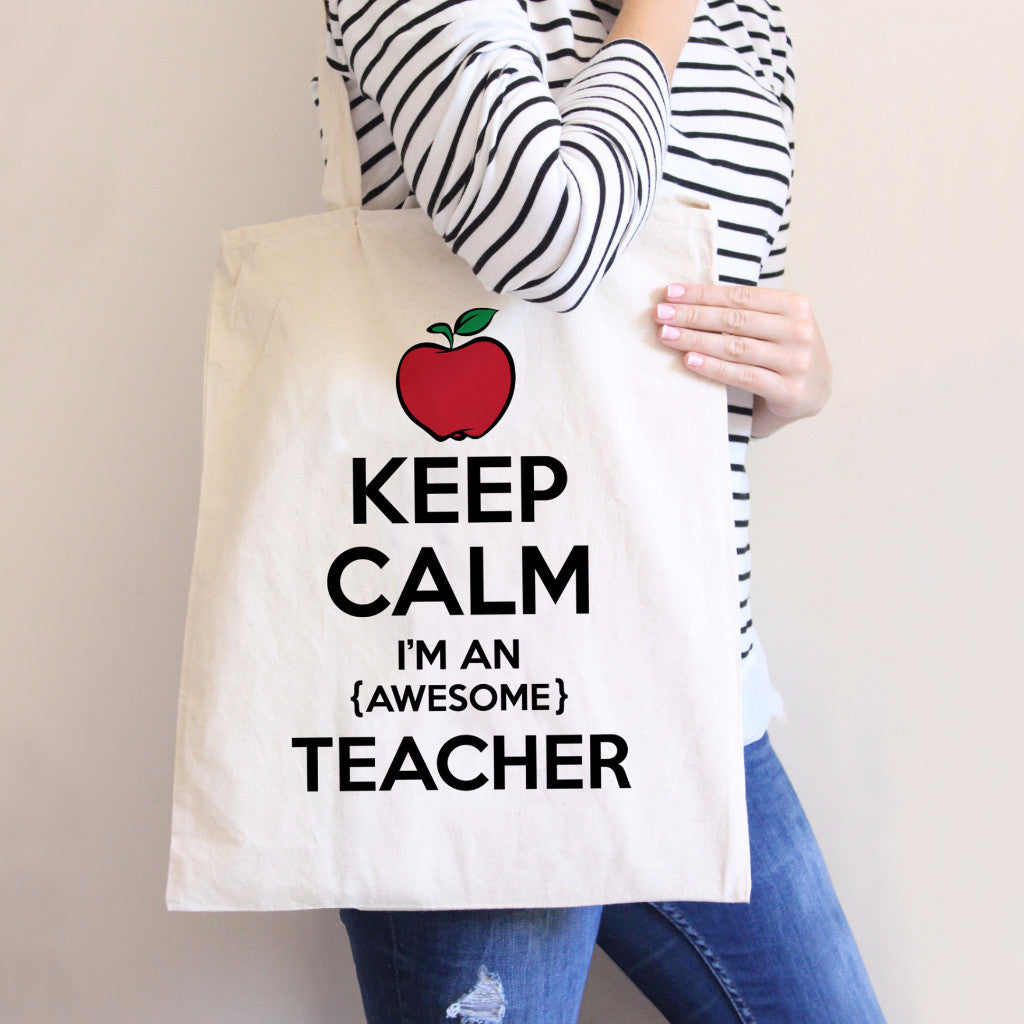 Keep Calm Teacher's Tote Bag - Wedding Decor Gifts